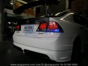 สเกิร์ตหลัง Honda Civic FD ทรง Mugen RR แบบเว้าท่อคู่