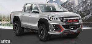 ชุดแต่งรอบคัน Toyota Hilux Revo Rocco 2018 ทรง Fortezza