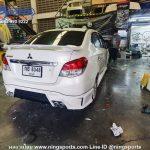 สเกิร์ตหลัง Mitsubishi Attrage 2017 ทรง Strom งานดัดแปลง